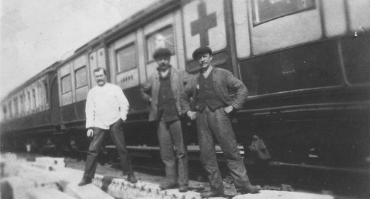 Ambulance train and workers, The Living Archive